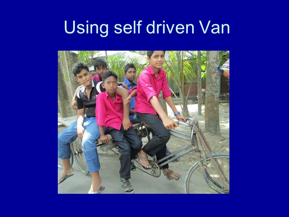 Using self driven Van