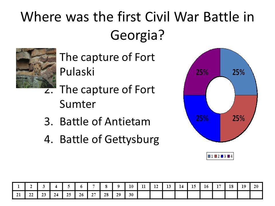 Where was the first Civil War Battle in Georgia.