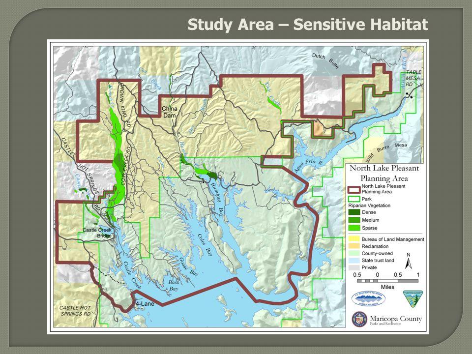 Study Area – Sensitive Habitat