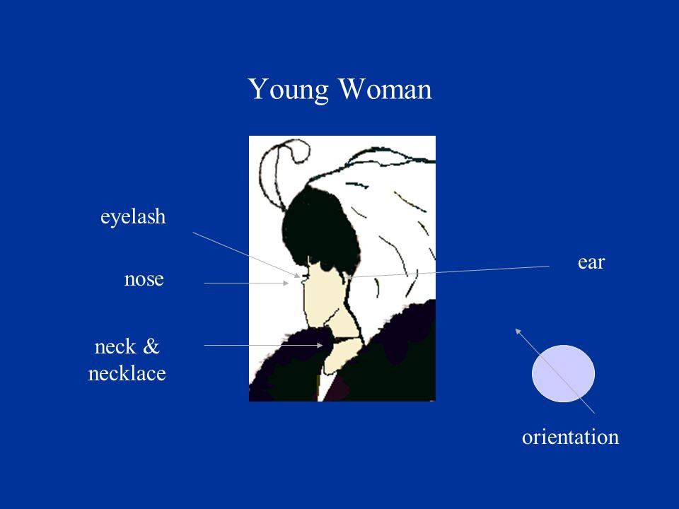 eyelash nose neck & necklace ear orientation Young Woman