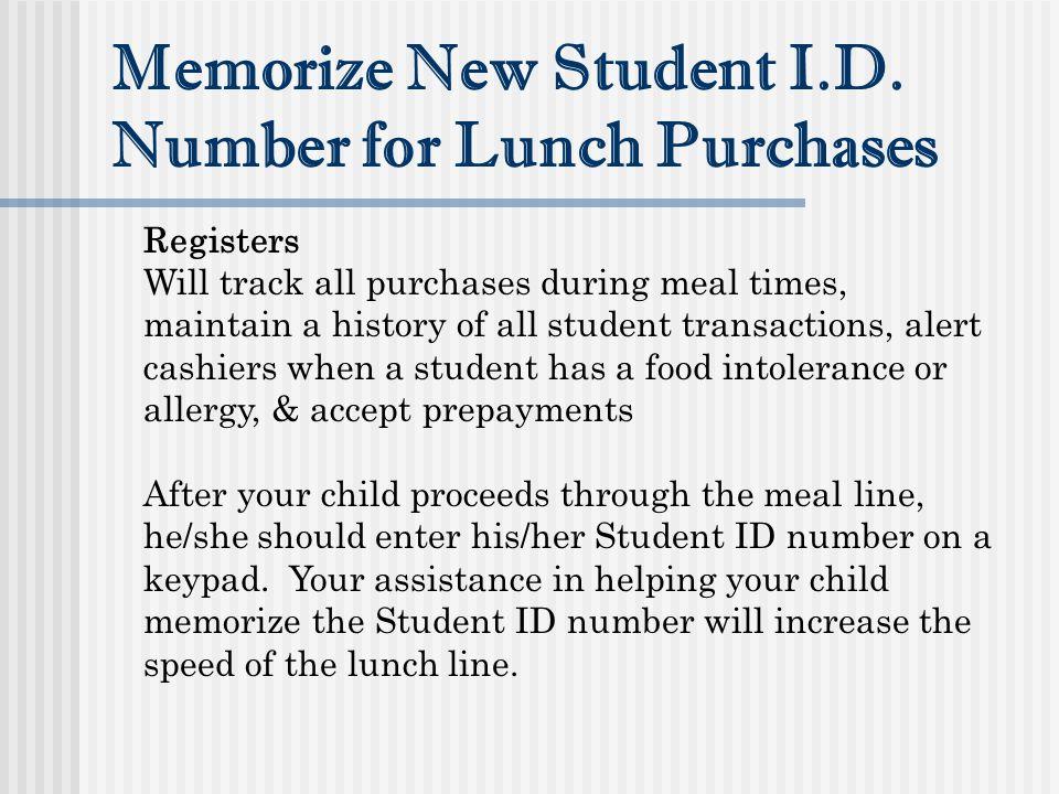 Memorize New Student I.D.
