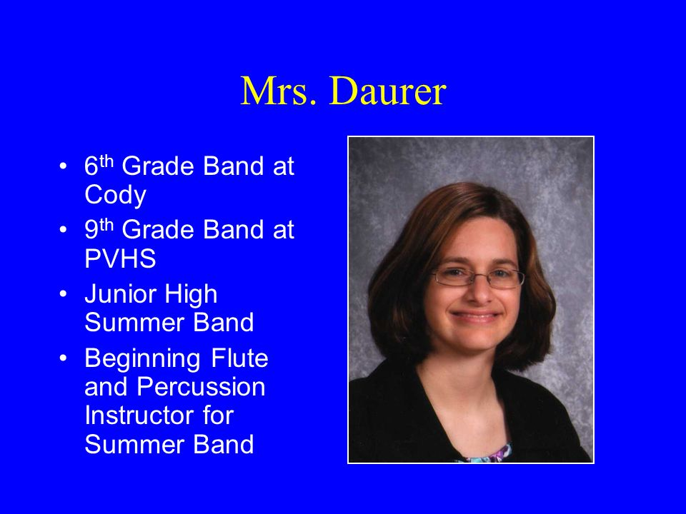 All-District 6th Grade Band