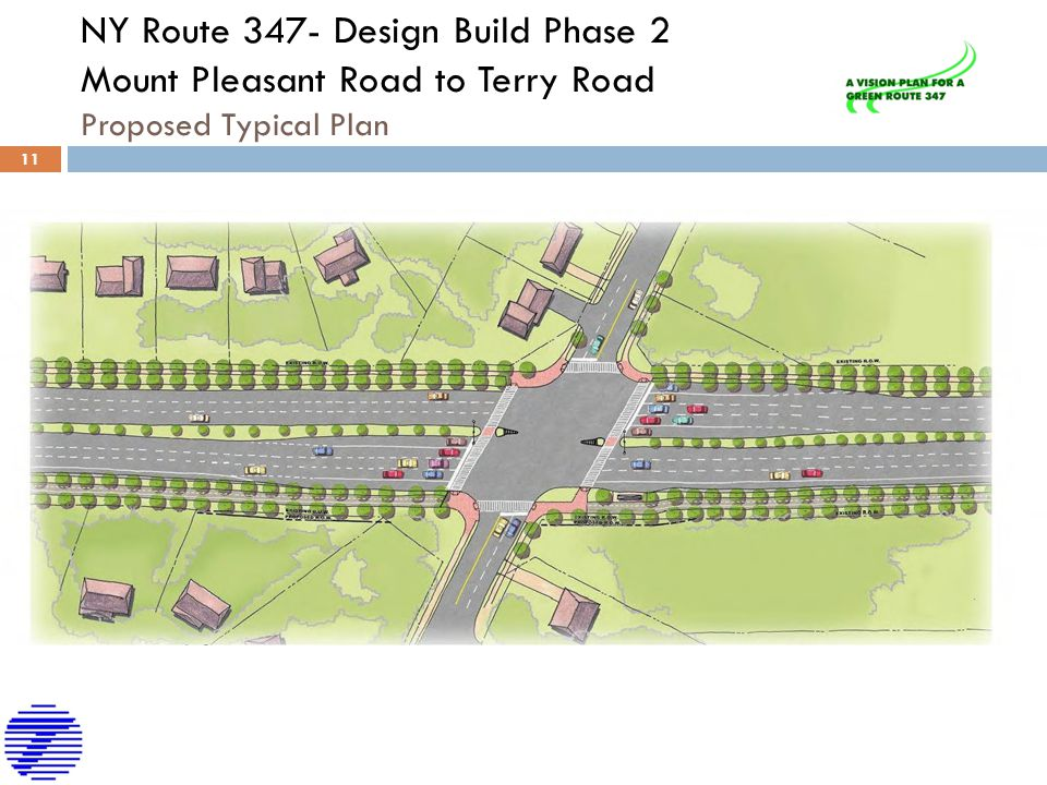NY Route 347- Design Build Phase 2 Mount Pleasant Road to Terry Road Proposed Typical Plan 11