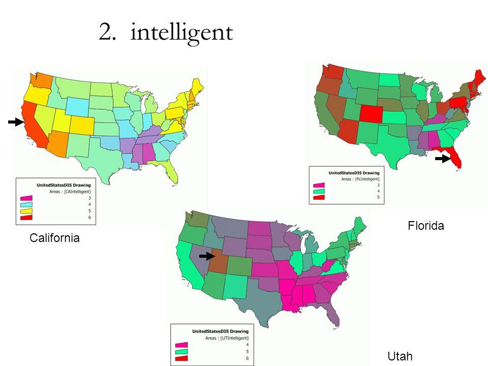 California Utah Florida 2. intelligent