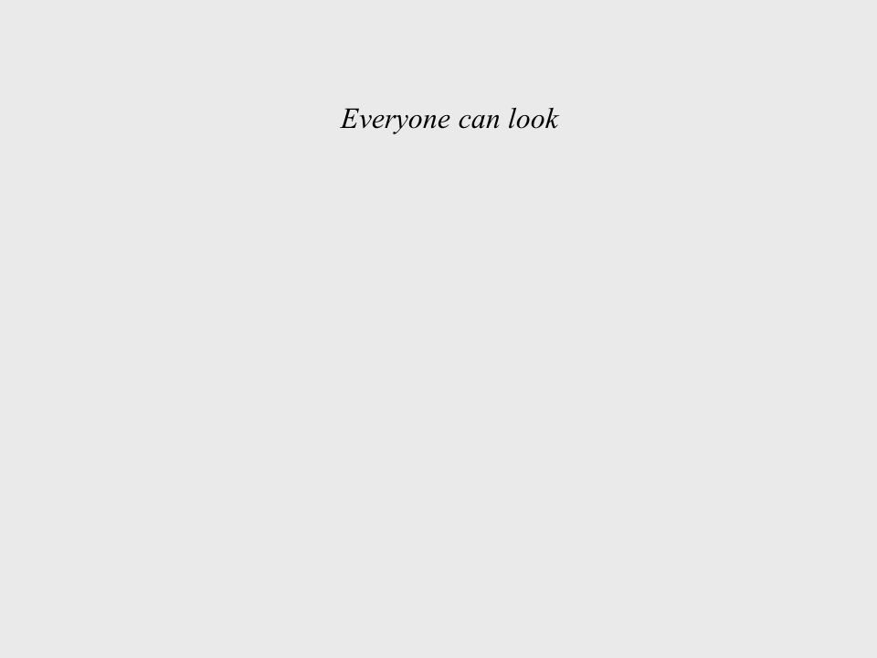 Everyone can look