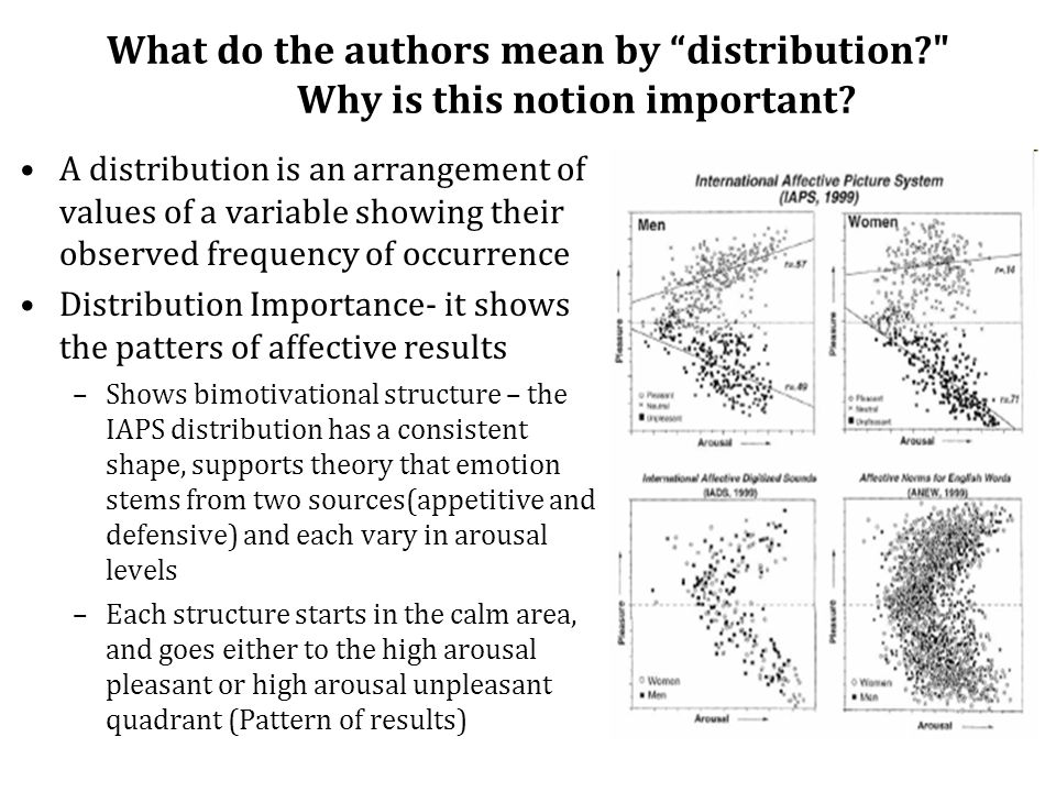 What do the authors mean by distribution Why is this notion important.