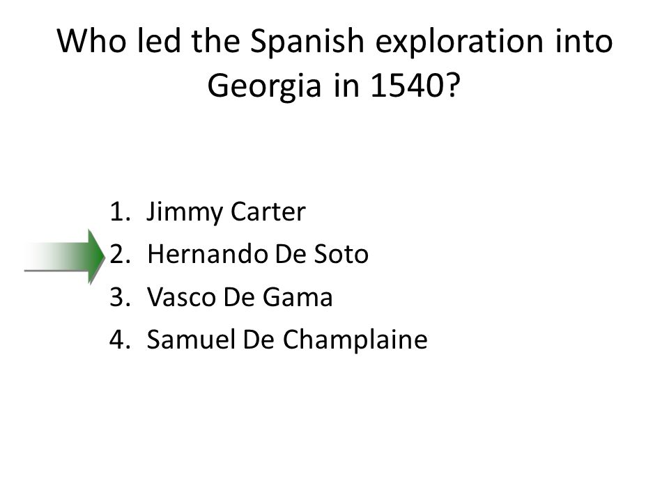 Who led the Spanish exploration into Georgia in 1540.