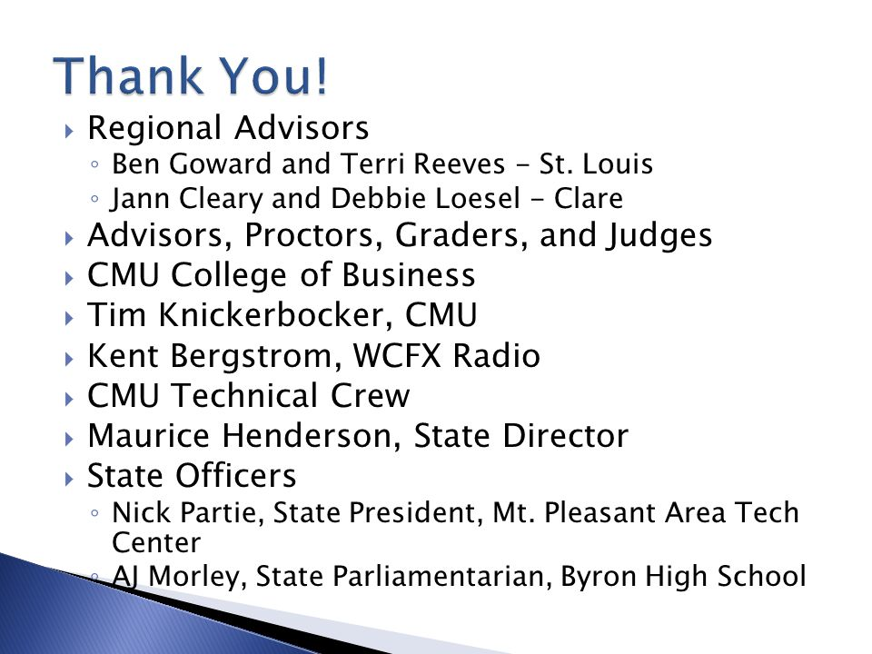  Regional Advisors ◦ Ben Goward and Terri Reeves - St.