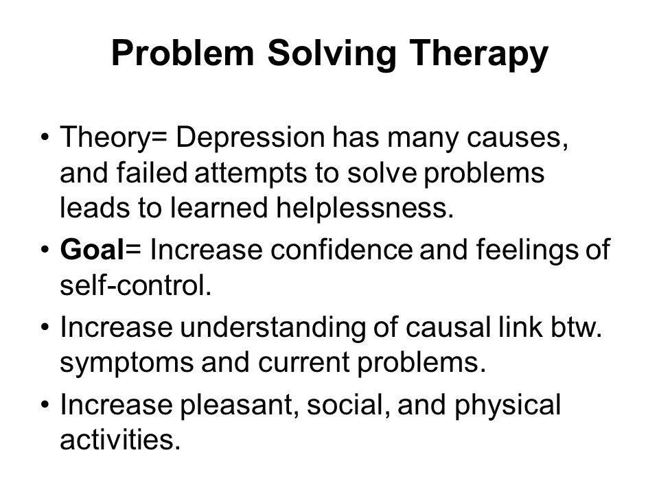 Theory= Depression has many causes, and failed attempts to solve problems leads to learned helplessness.