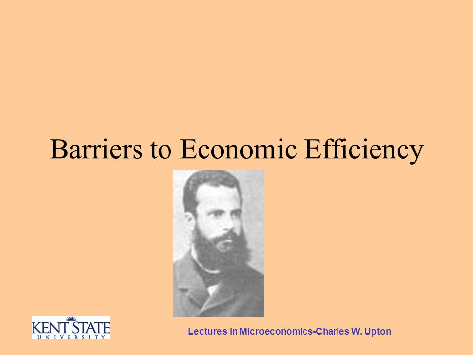 Lectures in Microeconomics-Charles W. Upton Barriers to Economic Efficiency