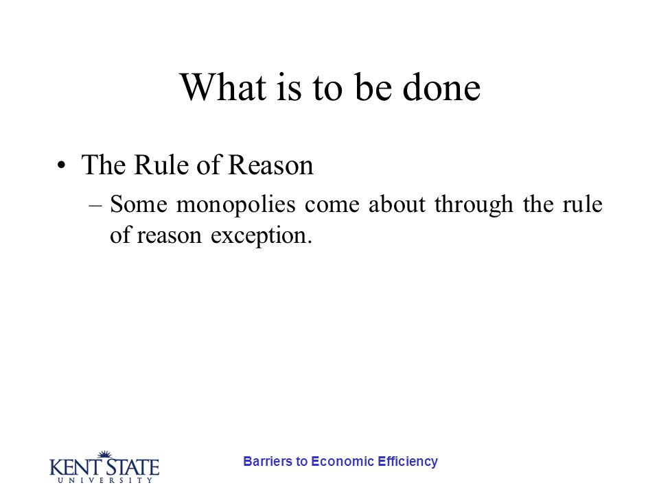 Barriers to Economic Efficiency Externality Taxes In economics terms, how do we get Acme to internalize the externality.