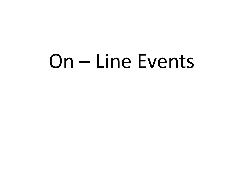 On – Line Events