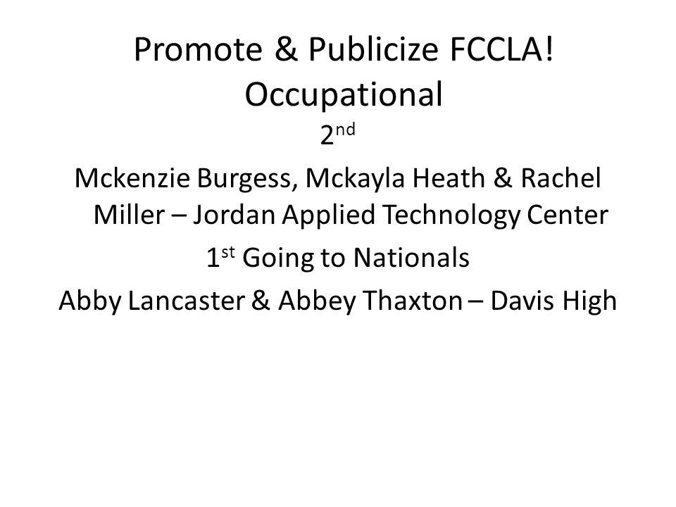 Promote & Publicize FCCLA.