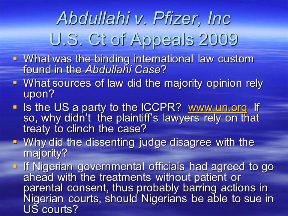 Abdullahi v. Pfizer, Inc U.S.
