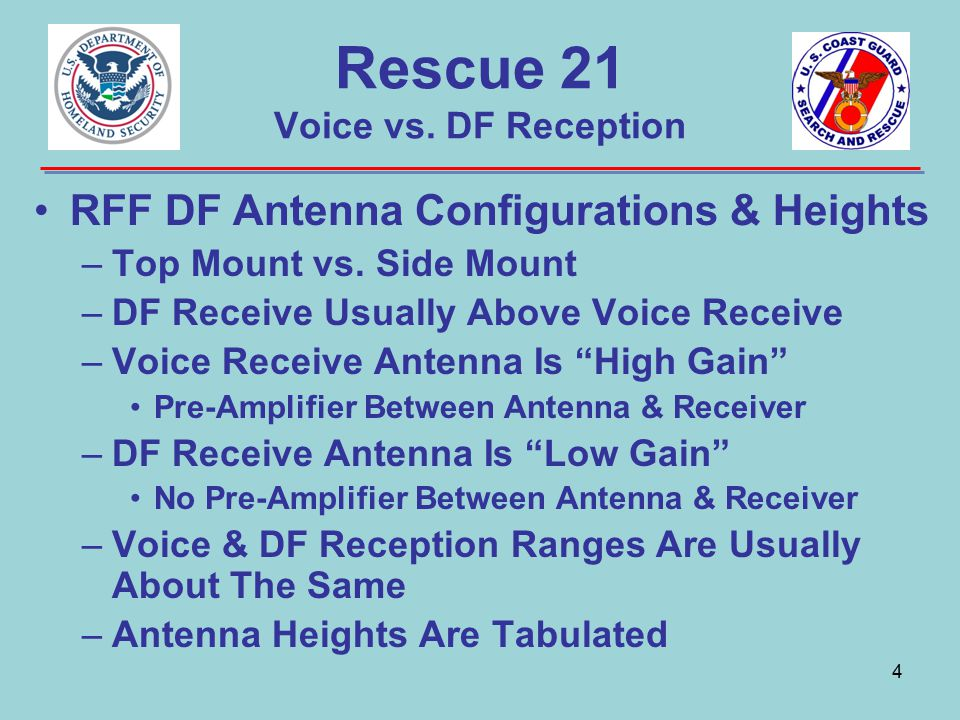 5 Rescue 21 Voice/DF Correlation Voice & DF Sub-systems Independent Voice & LOB Are Correlated When Both Sub-systems Receive A Signal— –At The Same RFF –On The Same Frequency –At The Same Time Cannot Absolutely Guarantee Each Sub- system Is Hearing Same Transmitter –R21 Does Not Fingerprint Transmitters