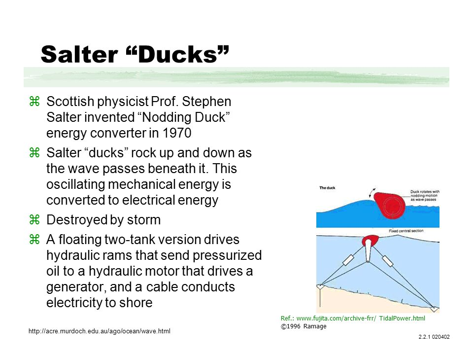 Salter Ducks zScottish physicist Prof.