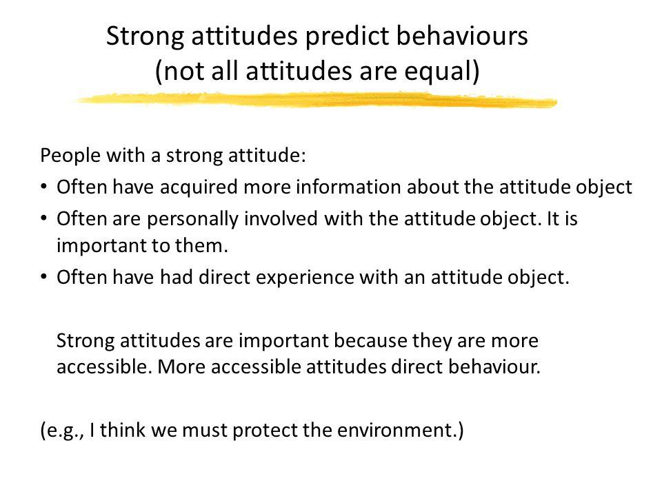 essay on attitude and behaviour