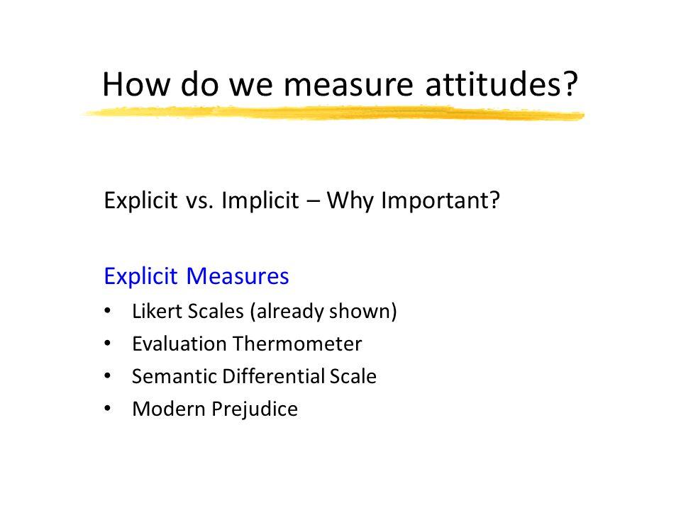 Specific attitudes predict specific behaviours.