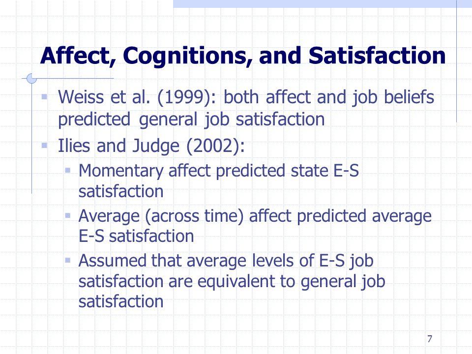 Figure 3: Average E-S Job Satisfaction vs. Pleasant Mood and General Job Satisfaction