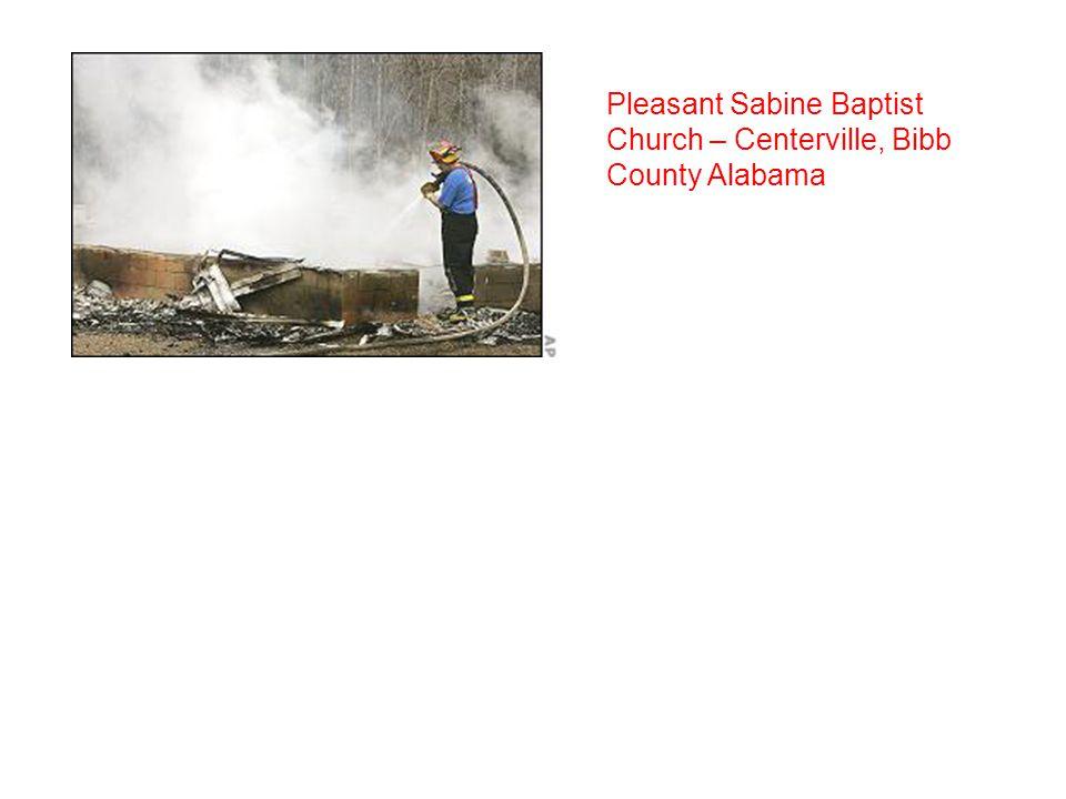Pleasant Sabine Baptist Church – Centerville, Bibb County Alabama