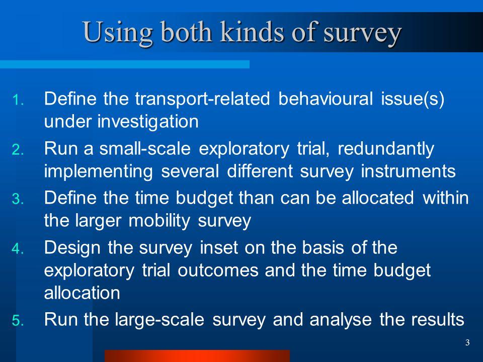 4 Survey trials run by POLITO 1.