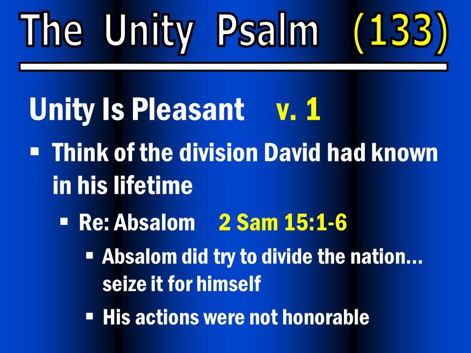 Unity Is Pleasant v.