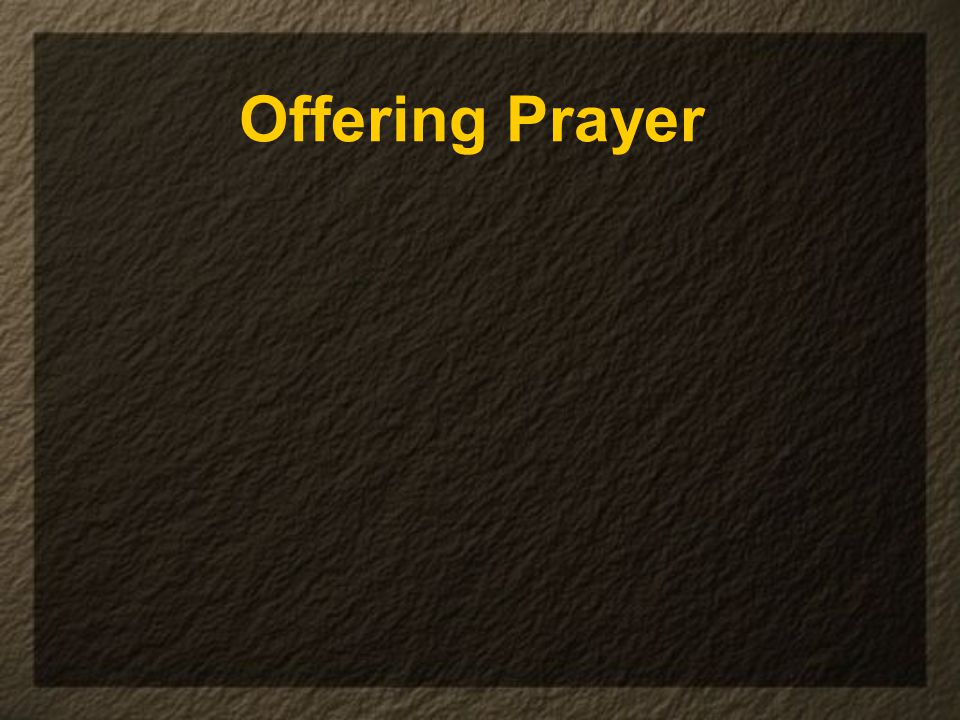 Offering Prayer