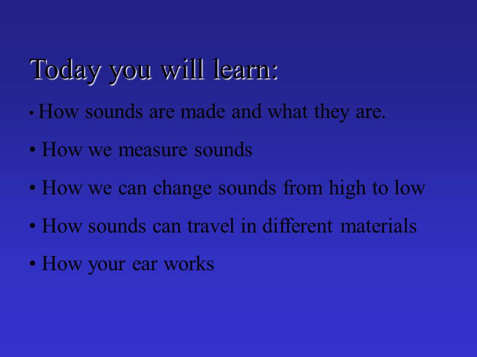 How do we hear sounds?