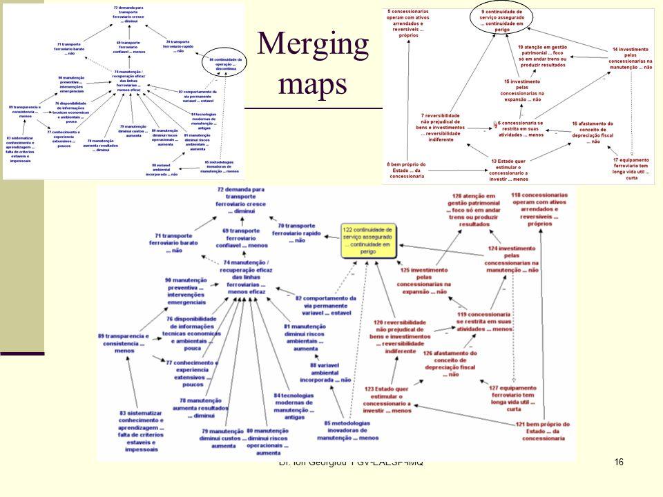 Dr. Ion Georgiou FGV-EAESP-IMQ16 Merging maps