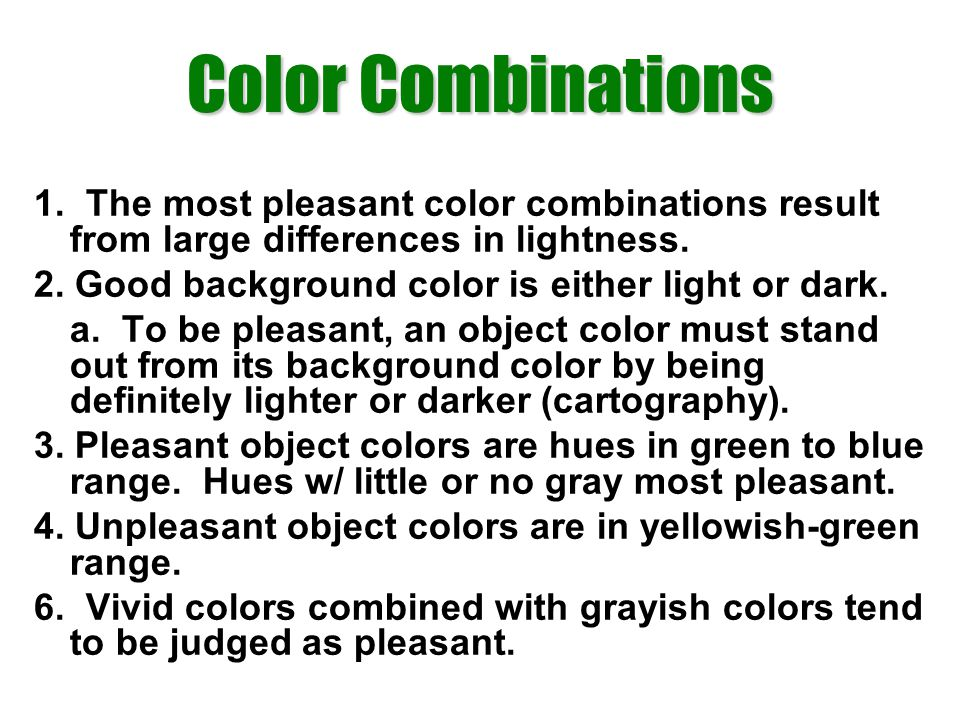 Color Combinations 1.