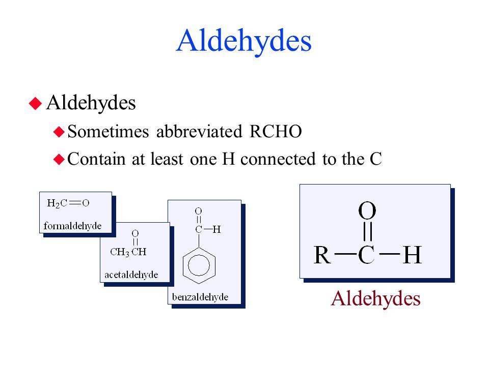 Ketones  Ketones  Carbonyl C is connected to two alkyl groups  RCOR' Ketones