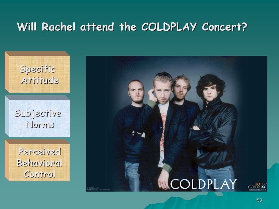 52 Will Rachel attend the COLDPLAY Concert.