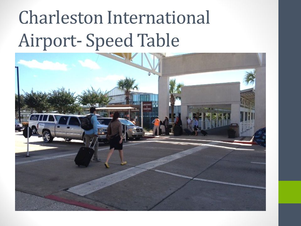 Charleston International Airport- Speed Table