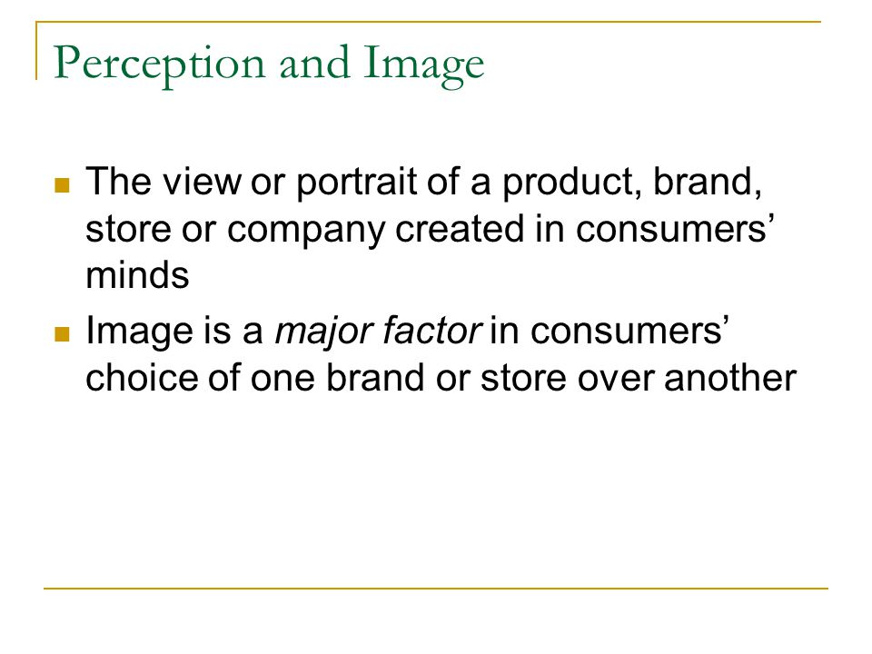 Images may be created around a number of categories: Economy Safety Reliability Pleasure Status Distinctiveness