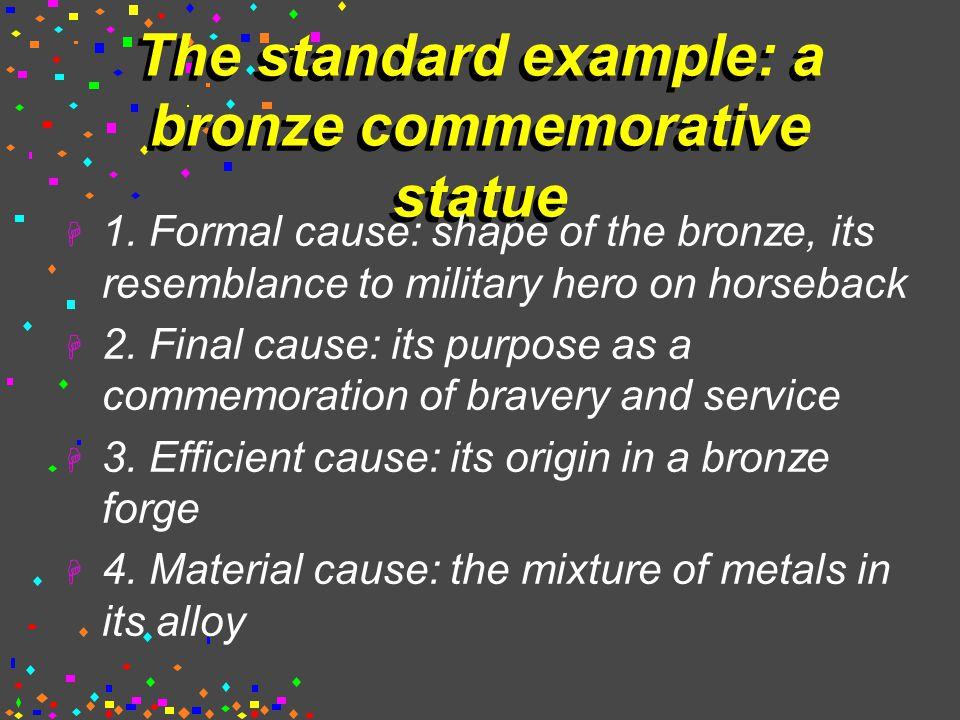 The standard example: a bronze commemorative statue  1.