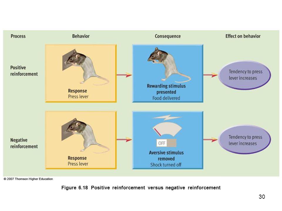 30 Figure 6.18 Positive reinforcement versus negative reinforcement