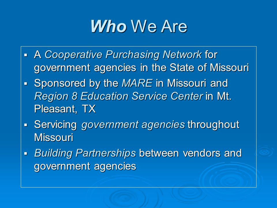 TIPS Resources  TIPS is a statewide purchasing cooperative.