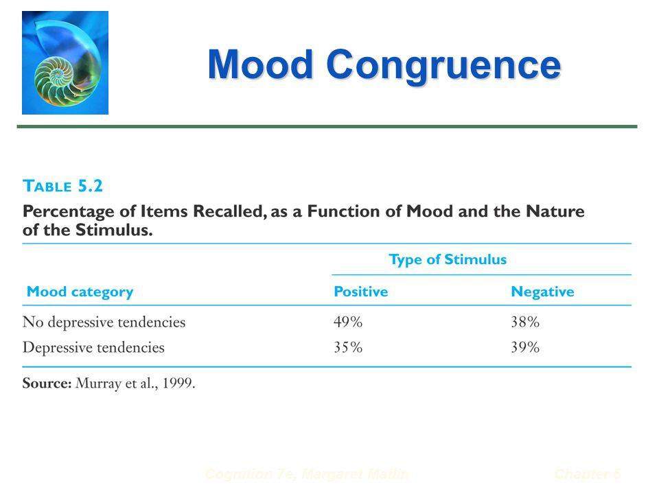 Cognition 7e, Margaret MatlinChapter 5 Mood Congruence