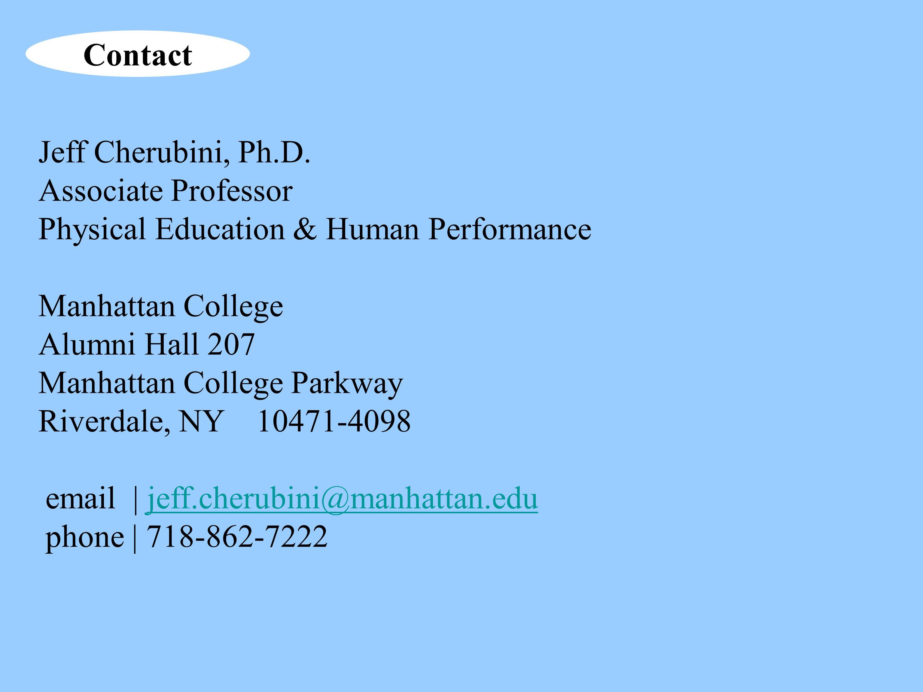 Jeff Cherubini, Ph.D.