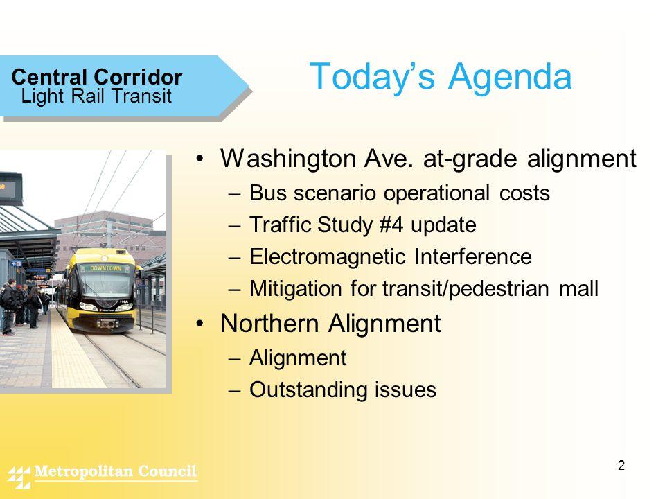 2 Today's Agenda Washington Ave.