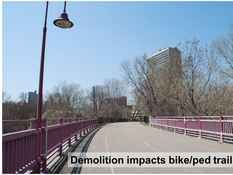 29 Demolition impacts bike/ped trail