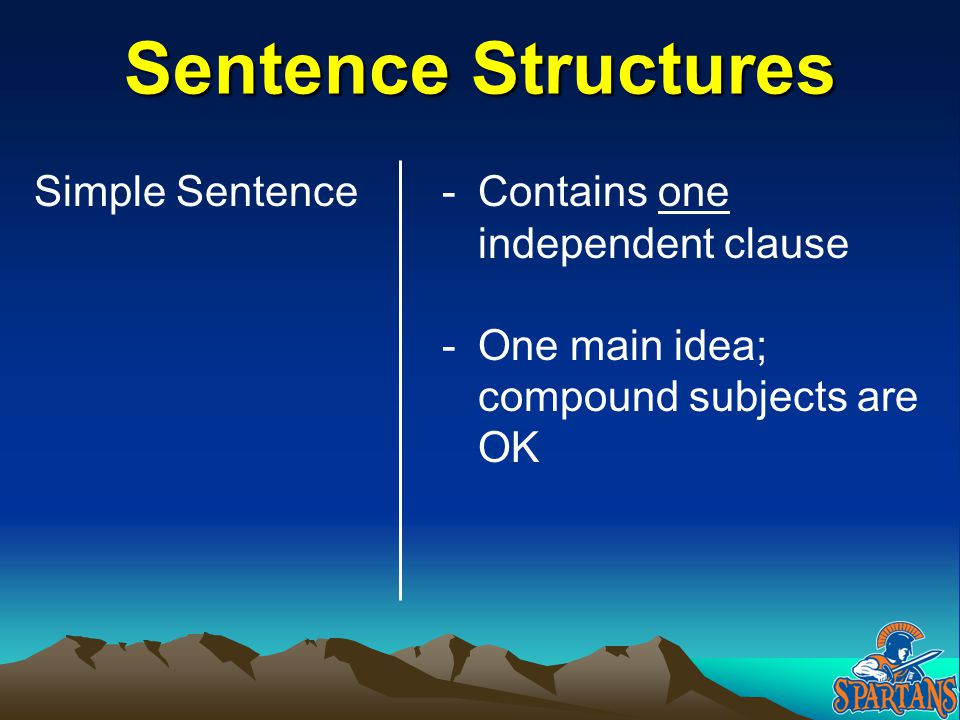 Complex or Compound-Complex.Independent Clause. 1.