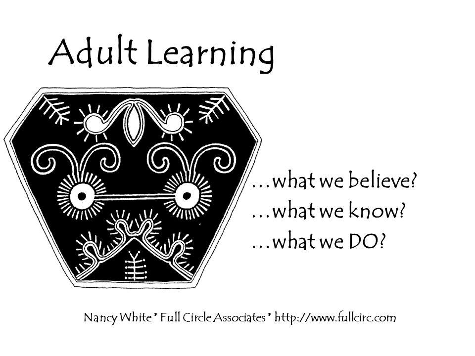 Characteristic #6 The adult learner is motivated from within him/herself.