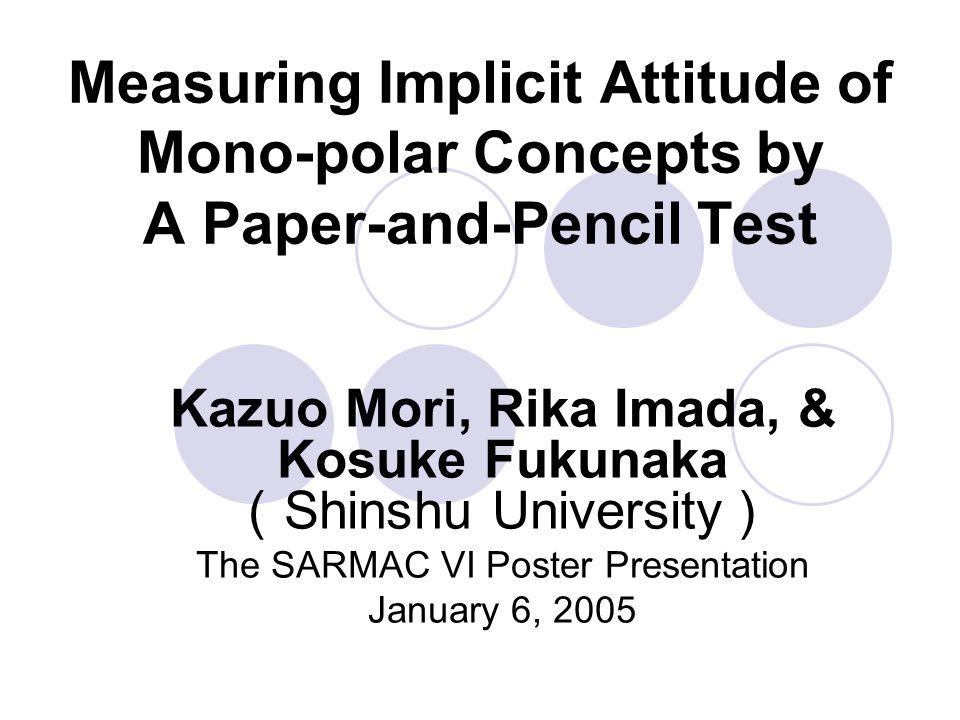 Implicit Association Test Greenwald et al.