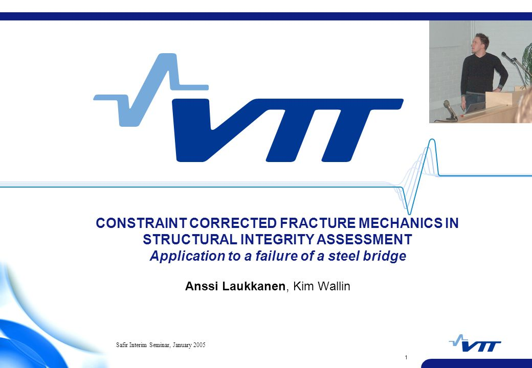 VTT TECHNICAL RESEARCH CENTRE OF FINLAND 12 Master Curve analysis of fracture toughness results SEN(T) specimens have T-stress ≈ -130 MPa.