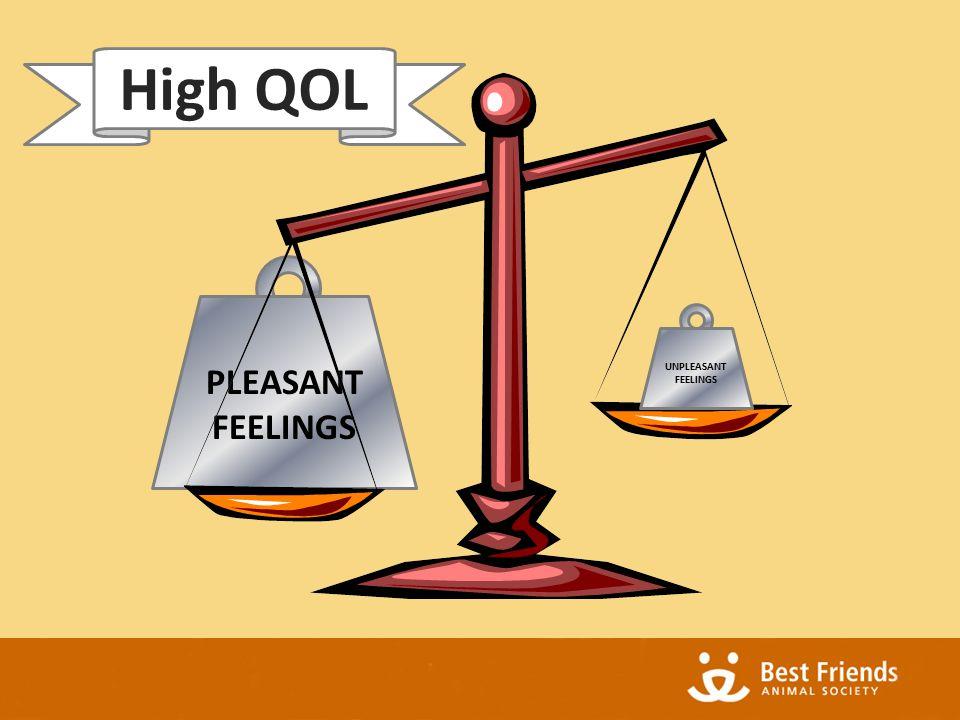PLEASANT FEELINGS UNPLEASANT FEELINGS High QOL