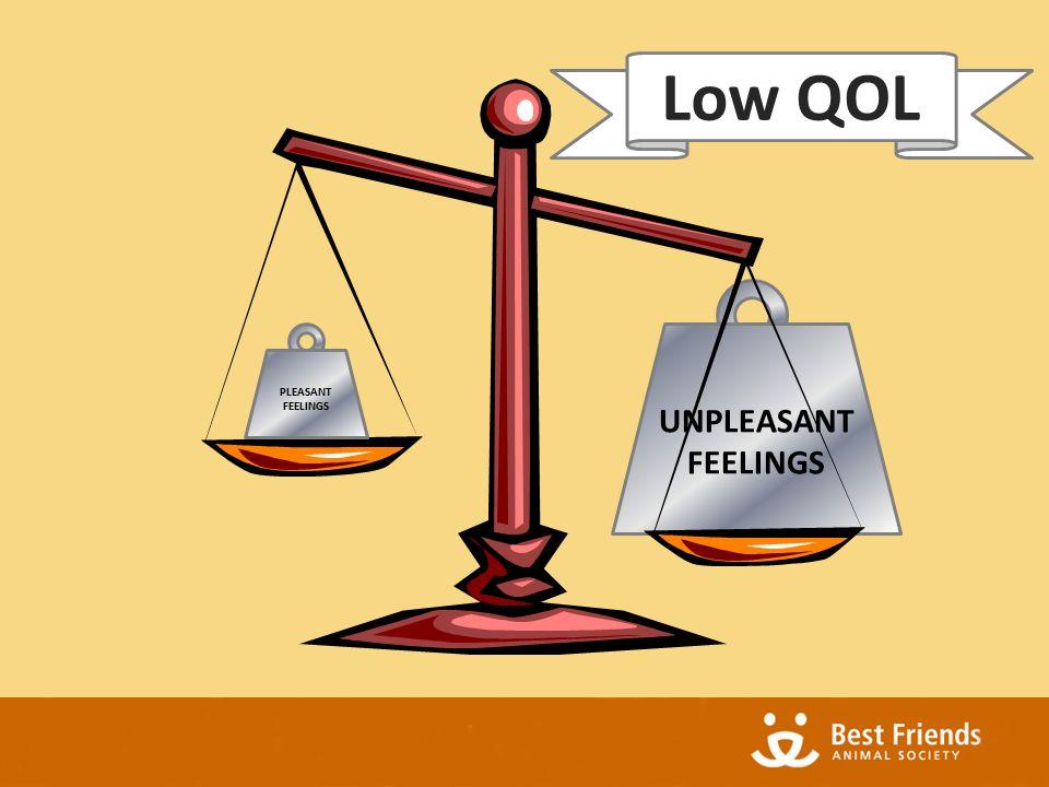 UNPLEASANT FEELINGS PLEASANT FEELINGS Low QOL