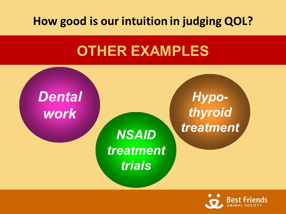 OTHER EXAMPLES Dental work NSAID treatment trials Hypo- thyroid treatment