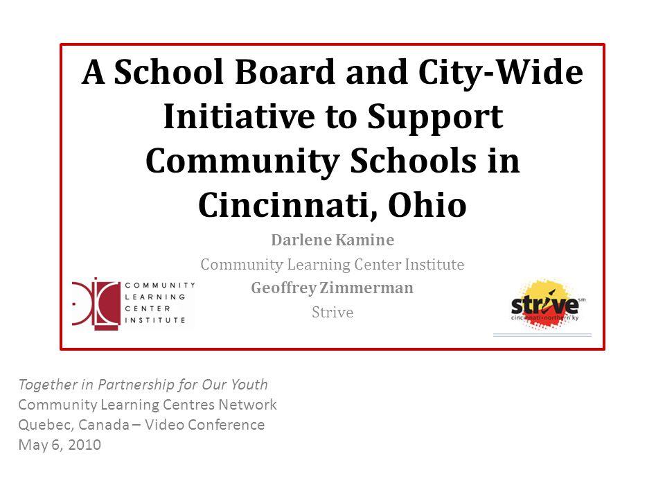 Why Community Learning Centers.Declining enrollment in Cincinnati Public Schools.