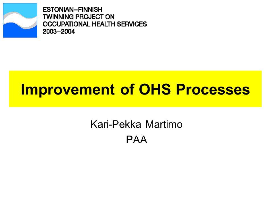 Improvement of OHS Processes Kari-Pekka Martimo PAA